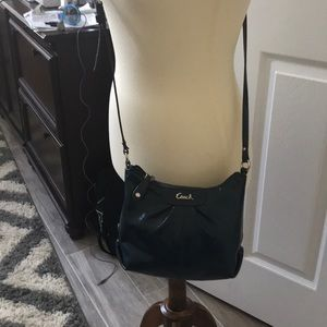Coach patent cross body bag